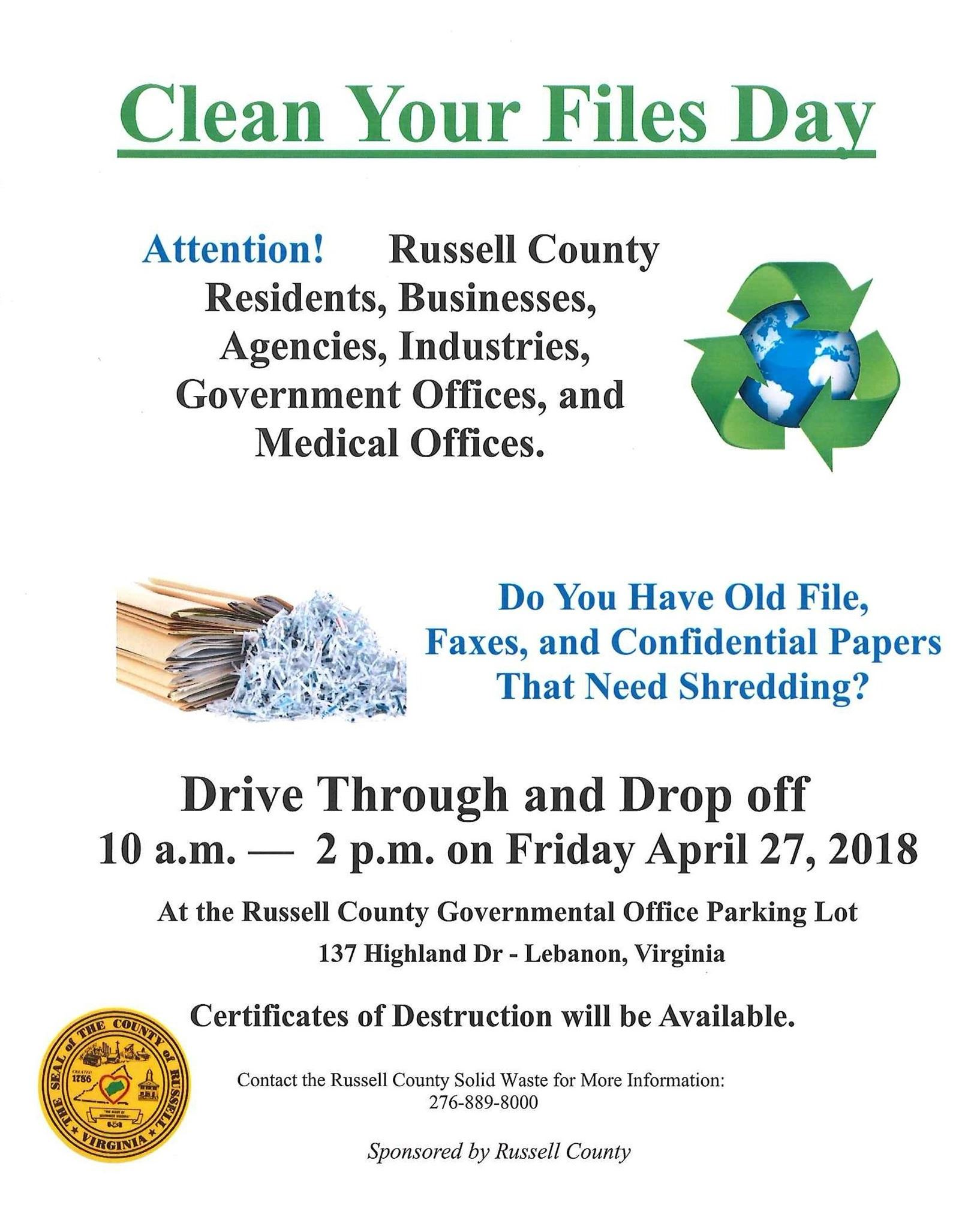 Clean Your Files Day 2018